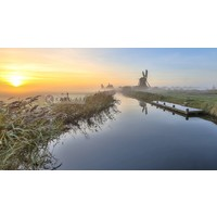 Karo-art Schilderij - Hollandse ochtend , Multikleur , 3 maten , Wanddecoratie