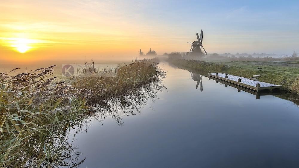 Schilderij - Nederlandse ochtend