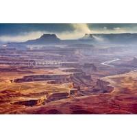 Karo-art Schilderij - Grand Canyon  , Multikleur , 3 maten , Wanddecoratie