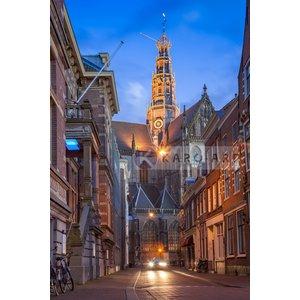 Karo-art Schilderij - Haarlem, grote Bavo kerk