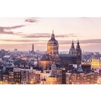 Karo-art Schilderij - Amsterdam, het centrum, Multikleur , 3 maten ,print op canvas, premium print