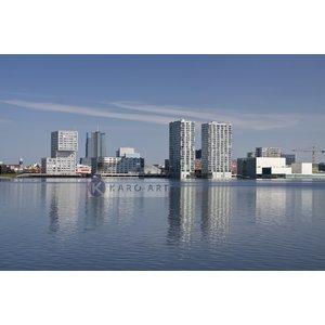 Karo-art Schilderij - Almere, skyline, print op canvas, premium print