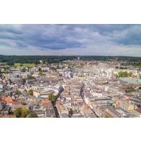 Karo-art Schilderij - Arnhem vanuit de lucht, Multikleur , 3 maten , print op canvas, premium print