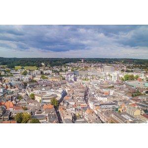 Karo-art Schilderij - Arnhem vanuit de lucht, print op canvas, premium print