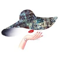 Karo-art Afbeelding op acrylglas - Fashion vrouw, premium print,