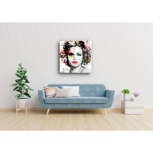Schilderij Moderne Vrouw Multikleur 3 Maten Print Op Canvas Karo Art Vof