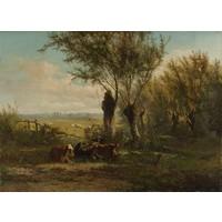 Gerard Bilders, Weiland bij Oosterbeek 90x60cm, Rijksmuseum, premium print, print op canvas, oude meester