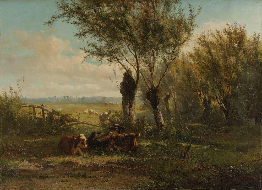 Gerard Bilders, Weiland bij Oosterbeek 90x60cm, Rijksmuseum, premium print, print op canvas, oude me