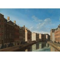 Gerrit Adriaensz Berckheyde, gezicht op de gouden bocht, Herengracht, Amsterdam, Rijksmuseum, premium print, print op canvas