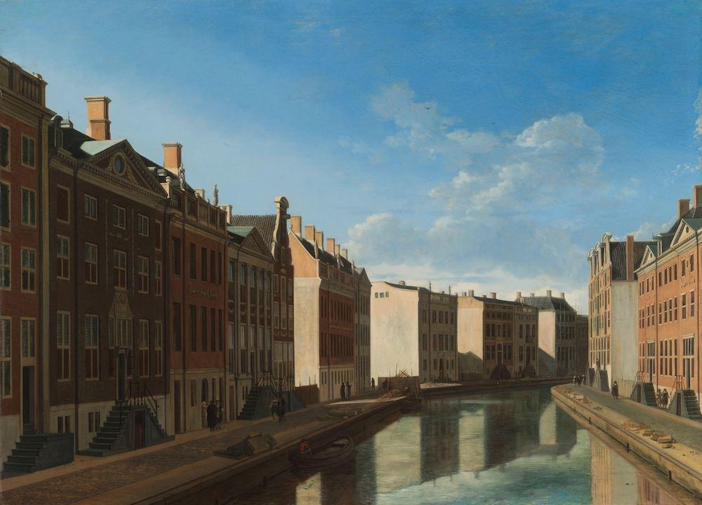 Gerrit Adriaensz Berckheyde, gezicht op de gouden bocht, Herengracht, Amsterdam, Rijksmuseum, premiu