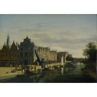 Gerrit Adriaensz Berckheyde, de waag en de kraan aan het Spaarne, Haarlem  90x60cm