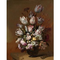 Hans Bollongier, Stilleven met bloemen 60x90cm, Rijksmuseum, premium print, print op canvas, oude meester