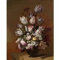 Hans Bollongier, Stilleven met bloemen 70x90cm, Rijksmuseum, premium print, print op canvas, oude meester
