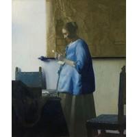 Johannes Vermeer - Brieflezende vrouw 70x90cm, Rijksmuseum, premium print, print op canvas, oude meester