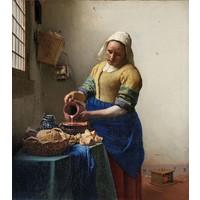 Johannes Vermeer - Het melkmeisje 90x100cm, Rijksmuseum, premium print, print op canvas
