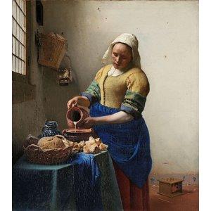 Johannes Vermeer - Het melkmeisje 80x90cm, Rijksmuseum, premium print, print op canvas