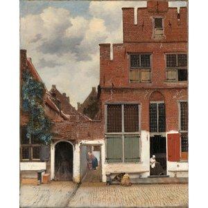 Johannes Vermeer - Het straatje  60x90cm, Rijksmuseum, premium print, print op canvas, oude meester