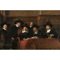 Rembrandt van Rijn - De Staalmeesters  90x60cm, Rijksmuseum, premium print, print op canvas, oude meester