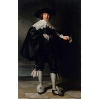 Rembrandt van Rijn - Marten Soolmans  60x90cm, Rijksmuseum, premium print, print op canvas, oude meester