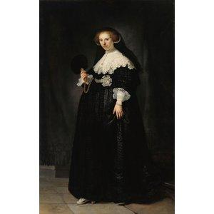 Rembrandt van Rijn - Oopjen Coppit 60x90cm, Rijksmuseum, premium print, print op canvas, oude meester