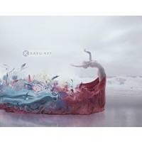Karo-art Schilderij  - Muse, in stijl, print op canvas, premium print