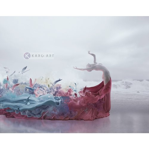 Karo-art Afbeelding op acrylglas  - Muse, in stijl, premium print