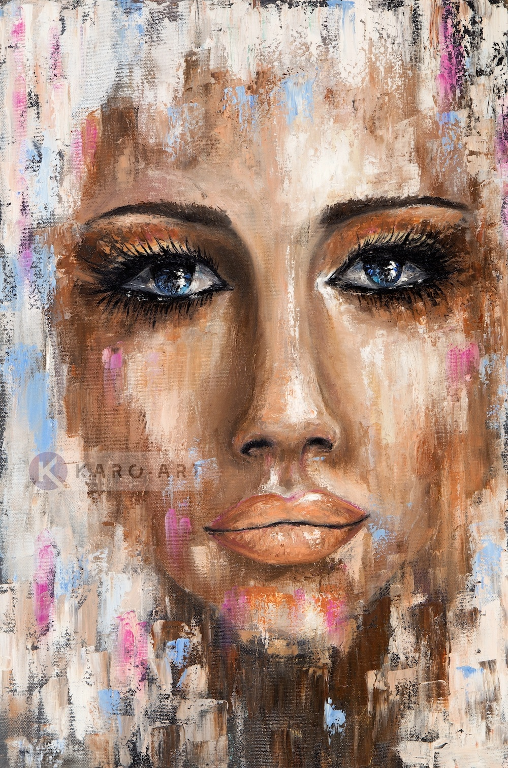 Afbeelding op acrylglas - Abstracte vrouw II, print op acrylglas