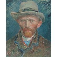Vincent van Gogh - Zelfportret  60x90cm, Rijksmuseum, premium print, print op canvas, oude meester