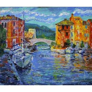 karo Schilderij - Port Grimaud, Frankrijk, Print op canvas