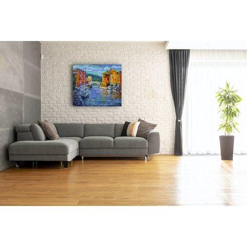 Karo-art Afbeelding op acrylglas - Port Grimaud, Frankrijk, Print op acrylglas