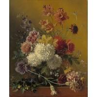 Georgius Jacobus Johannes van Os - Stilleven met bloemen, 70x90cm, Rijksmuseum, print op canvas, premium print