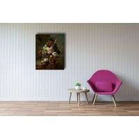 Harmanus Uppink - Stilleven met bloemen  60x90cm, Rijksmuseum, print op canvas, premium print, oude meester