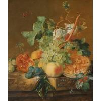 Jan van Huysum - Stilleven met fruit 70x90cm, Rijksmuseum, premium print, print op canvas