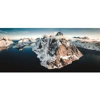 Karo-art Schilderij - Panorama Noorwegen, Multikleur , 2 maten , print op canvas, premium print