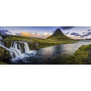 Karo-art Schilderij - Panorama waterval