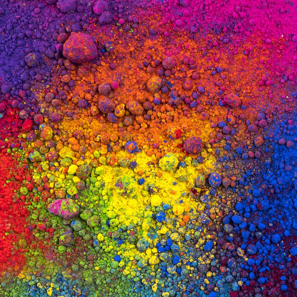 Schilderij - Gekleurde stenen, multikleur
