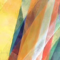 Karo-art Schilderij - Geometrisch abstract, multikleur ,3 maten , Wanddecoratie