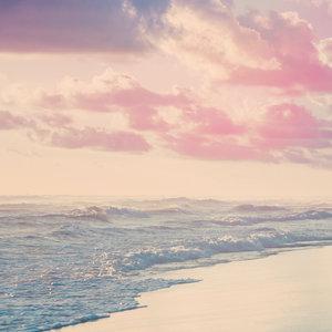 Karo-art Schilderij - Noordzee in pastel kleuren, premium print