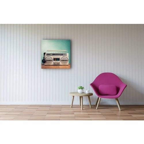 Karo-art Schilderij - Stereo Retro