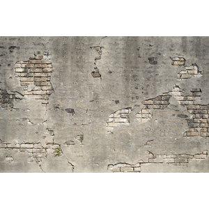 Karo-art Fotobehang- Afgebrokkelde muur, oude muur