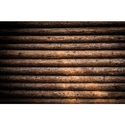Karo-art Fotobehang- Blokhut, boomstammen