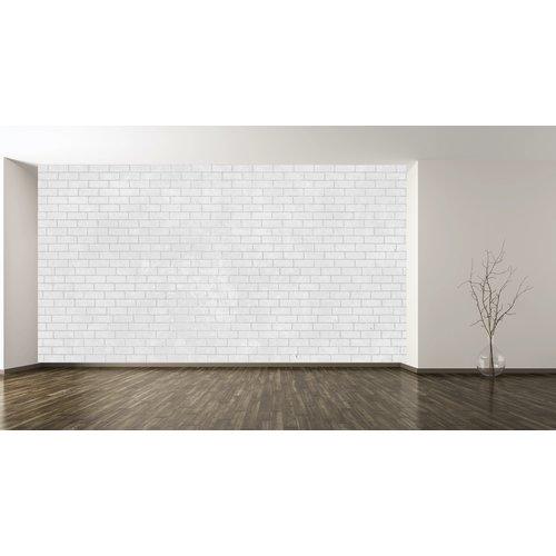 Karo-art Fotobehang- Witte stenen muur