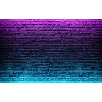 Karo-art Fotobehang- Neon bakstenen