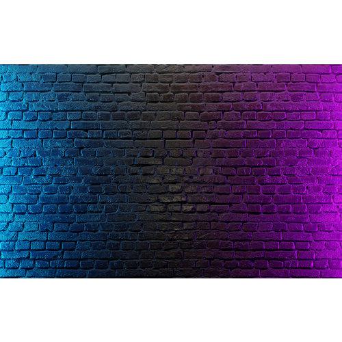 Karo-art Fotobehang - Neon bakstenen II