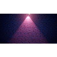 Karo-art Fotobehang - Neon bakstenen III