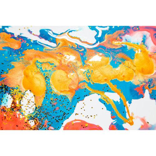 Karo-art Fotobehang - Abstracte acrylverf