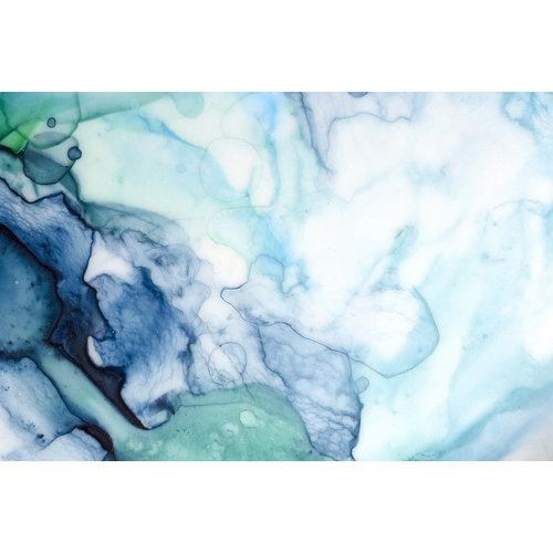 Karo-art Fotobehang - Abstracte aquarel