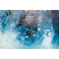 Karo-art Fotobehang - Abstracte blauw