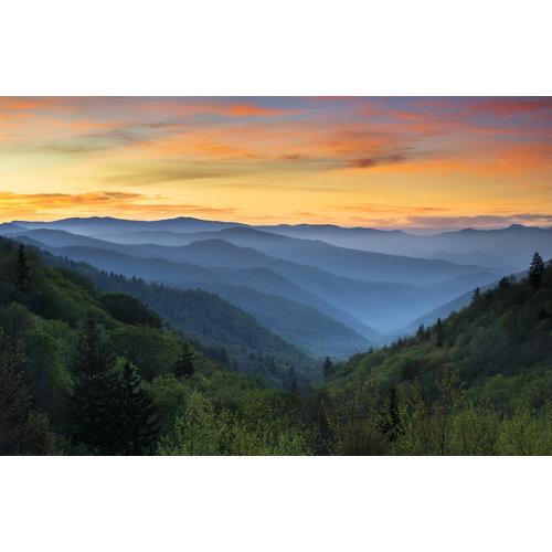 Karo-art Fotobehang - Berg uitzicht