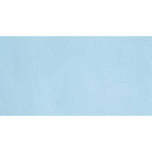 Karo-art Fotobehang - Blauwe gipsmuur